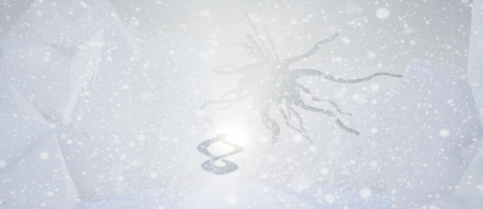A wintery scene from Common Domain interactive installation